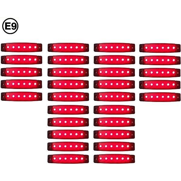 A1 30 X Led 24v Rot Begrenzungsleuchte Positionsleuchte Seitenmarkierungsleuchte Lkw Auto