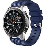 Dirrelo Correa Compatible con Samsung Galaxy Watch 3 45mm/Galaxy Watch 46mm/Huawei GT 2 46mm, 22mm Deportiva Muñequeras Suave