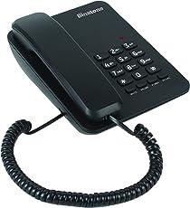 Binatone Spirit 111 Basic Corded Landline Phone for Office & Home (Black)