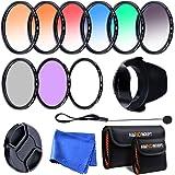 K&F Concept 52mm 9pcs UV CPL FLD Lente Filtro UV Accessorio con colore graduale Kit UV Lente Filtro UV Accessorio con…