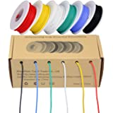 TUOFENG 28AWG Electronics Wire kit, Colored Wire Kit 0.08mm²Flexible Silicone Wire(6 Different Colored 13 Meter spools…