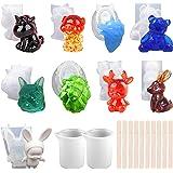 papasgix Moulessilicone resine Epoxy Moule Silicone Animal Moulle Silicone Licorne Moulage pour Sculpture Decoration 3D Cadea