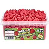 Sweetzone Foam Strawberries Flavours Sweets HMC Approved Halal Sweets 960g (600 Pieces)