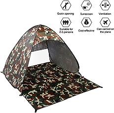 KinshopS Outdoor 2-3 Personen Schnell automatische Pop-up Instant Portable Cabana Strand Zelt Camping Angeln Picknick Shelter für Beach Park