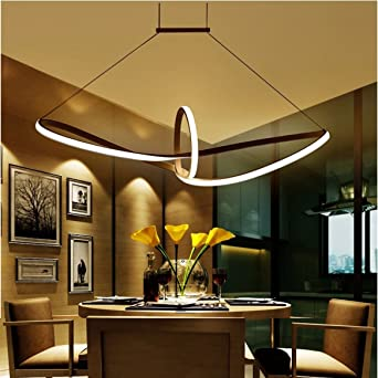 LED Pendelleuchte Esstisch Hängelampe Pendellampe Kronleuchter Wohnzimmer  Küche Pendel Moderne Aluminiu Hängeleuchte Pendellänge Maximum 120 Cm Und  ...