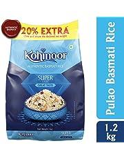 Kohinoor Super Value Basmati Rice, Blue, 1kg (20% extra)