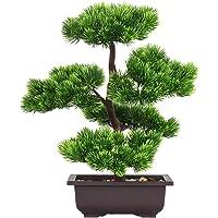 Aisamco Artificielle Bonsaï Arbre Faux Plante Décoration en Pot Artificielle Maison Plantes Japonais Pin Bonsaï Plante…