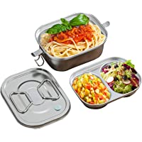 Nifogo Lunch Box en Acier Inoxydable avec Compartiments Boîte à Lunch écologique pour randonnée/Voyage/école, Enfants et…