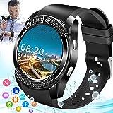 Mahipey Smartwatch con Whatsapp,Bluetooth Smart Watch Pantalla táctil,Reloj Inteligente Hombre con Cámara, Impermeable Smartw