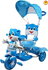 GoodLuck Baybee Convertible Tricycle Trike with Canopy and Parent Push Control for Boys & Girls, Blue (1 to 3 Years)