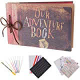 RECUTMS Our Adventure Book Pixar Up Handmade DIY Family Scrapbook Photo Album Expandable 11.6x7.5 Inches 80 Pages