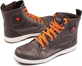 Modeka Lane - Stivali da moto Baskets, in pelle, colore: Marrone