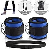 Pincou Fußschlaufen Knöchelriemen Fitness Ankle Straps für Kabelmaschine mit Haken und Schlaufe Widerstandsband, Doppel-D-Ring Designed, Verstellbare Fußmanschetten für Hüfte