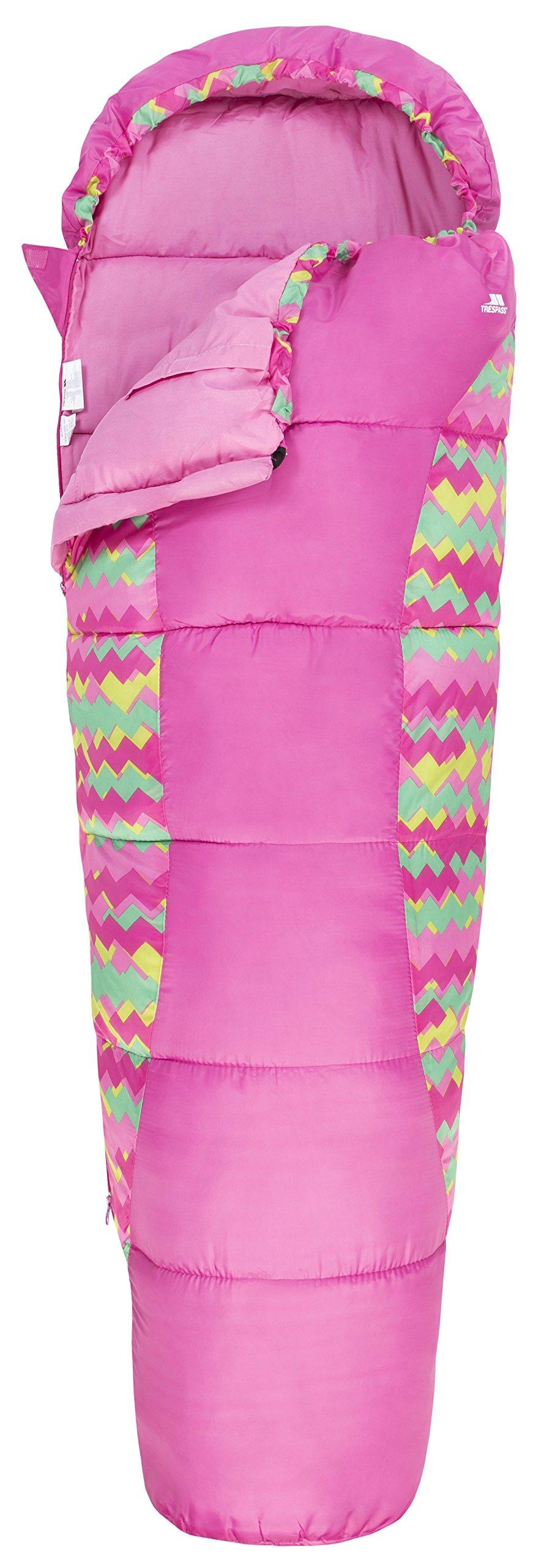 Trespass Unisex Child BUNKA 3 Season Sleeping Bag with Hollow Fibre Filling 3