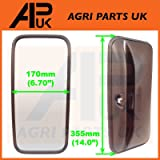 APUK NEW Universal Mirror Head + Glass Tractor Lorry Digger Truck Plant JCB Bus Wing