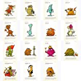 """Postkarten-Set mit den Karten No. 16 bis 30 der""""Monster des Alltags""""-Serie von Christian Moser"""