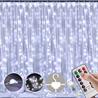 LED Curtain Lights, Window Curtain Fairy Twinkle Lights 3mx3m 300leds USB Operated 8 Modes Icicle LED String Lights with…