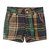 ZHBSS Shorts in Lana a Quadri, Vita Alta più Pantaloni Dimagranti, Pantaloni a Trapezio, Accessori di Abbigliamento Selvaggio