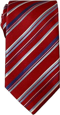 Remo Sartori - Cravatta in Pura Seta Regimental Righe Multicolor, Made In Italy, Uomo