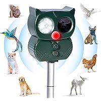Répulsif Chat Ultrason Solaire Exterieur Répulsif Animaux Fréquence Réglable Répulsif à Ultrason Sonore Imperméable…