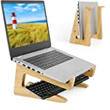 Wooden Laptop Holder,m zimoon Laptop Stand-Universal Lightweight Ergonomic Laptop Stands,Laptop Desk Stand suitable for MacBo