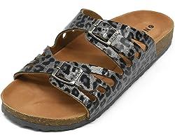 ONCAI Palabra de Mujer con Sandalias Zapatillas de Moda de Verano