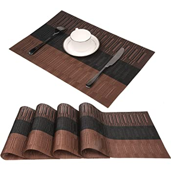 sets de table famibay lavables sets de table bambou lot de. Black Bedroom Furniture Sets. Home Design Ideas