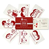 Indigifts Postcard Valentines Special Love Story Handmade Sheet Cute Message Postcard Set of 8-4''x 6'' - Gift For Boyfriend-
