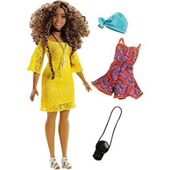 fea7def07b2 Barbie FJF53 FASHION AND BEAUTY Fashionistas Doll-Purple Lace Romper ...