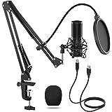 TONOR Micrófono de Condensador USB Micro Grabación Patrón Polar Cardioide para Grabar Música y Video Podcast Transmisión en V