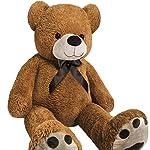 Monzana Riesen Teddybär   Größe L 100cm   Teddy Kuscheltier Stofftier Plüschbär Plüschtier Teddi