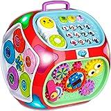 Miric - 7 en 1 Música Cubo de Actividades Juguetes Bebes 1 Año con Sonido, Dados de Aprendizaje de Rompecabezas, Juguetes Edu