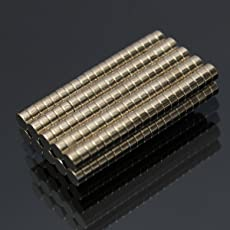HITSAN INCORPORATION 200pcs N35 3 x 1.5mm Round Neodymium Magnets Strong Rare Earth Magnets