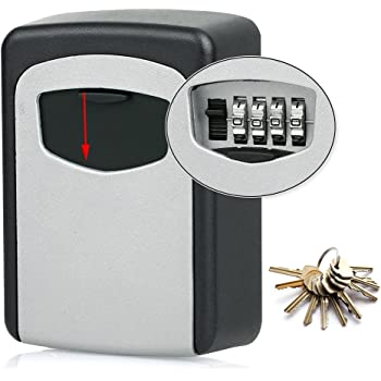 OUTDOOR Key Safe For House /& Spare Car Keys  Strong Steel Lock Box  Wall Mounted
