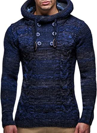 Leif Nelson Men's Pullover Knit Sweater LN-20227