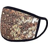 Woohooens Tessuto Bocca in Cotone per Unisex - Paillettes Moda Bling - Lavabili Riutilizzabili Antipolvere Visiera Viso per S