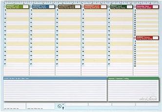 Wochenplaner-Schreibtisch 42x 30–Agenda Planner Tisch ewigen–World Planner
