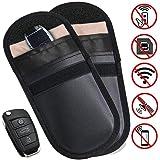 MONOJOY 2 X Auto Key Signal Blocker Pouch, Faraday Bag voor Autosleutels, RFID Sleutelzak, Keyless Signaal Blokkeren Key Case
