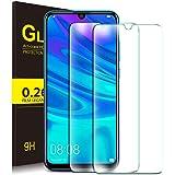 KuGi pour Huawei P Smart 2019 Protection Ecran, Ultra Résistant Film Protection écran Glass [Dureté 9H] Screen Protector Convient Conçu pour Huawei P Smart 2019(Pack de 2)