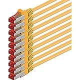 1aTTack.de 87302-3m - CAT6 Netzwerkkabel CAT.6 Patchkabel Ethernetkabel SFTP PIMF 1000 Mbit/s - 10 Stück - gelb