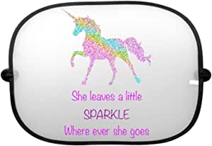 2 PACK Printing pros Unicorn She Leaves A Little Sparkle Where Ever She Goes Car Sunshade