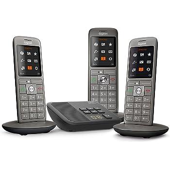 Gigaset CL660A Trio - Téléphone fixe sans fil - Répondeur - 3 combinés - Gris  Anthracite 3046049d10ea