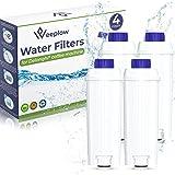 WEEPLOW® - 4 Filtres à Eau Compatibles DLSC002, Delonghi Magnifica, Dinamica, Autentica, Primadonna et toutes les Séries ecam