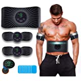 ROOTOK Elettrostimolatore per Addominali, Elettrostimolatore Muscolare, Addominale Tonificante Cintura, EMS Stimolatore Musco