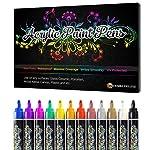 Desire Deluxe Acryl Farben Wasserfester Stifte Set – 100% natürlich auf Wasserbasis 12pc Art Acrylstifte für Steine...