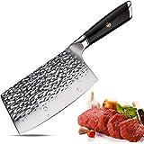 Aroma House Couteau de Chef Couperet de Cuisine Chinois Couteau en Acier à Haute teneur en Carbone Allemand avec Lame trancha