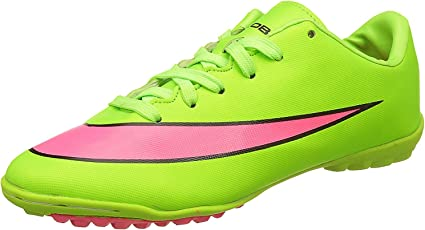 Kobo Astro Turf Football Shoes (Green/Pink)