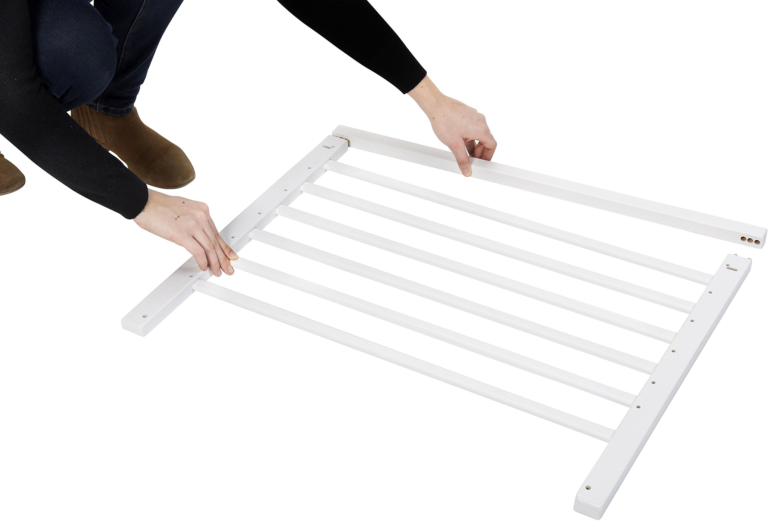Badabulle Color Pop Safety Gate, White Badabulle Wooden safety gate for self-assembly Easy to open Swinging door 4