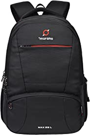 Murano Max 29 LTR Laptop Backpack for 15.6 inch Laptop and Polyester Water Resistance Backpack for Men and Women- Black
