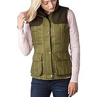 Rydale Ladies Bramham II Tweed Waistcoat Women's Check Tweed Gilet Bodywarmer